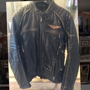 Men's Harley leather bike jacket